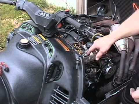 hqdefault arctic cat key switch to tether wiring for snowmobile youtube 1994 arctic cat wildcat 700 efi wiring diagram at eliteediting.co