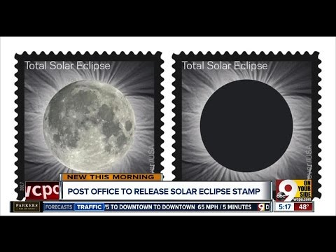 Touch new postage stamp with your finger, and total solar eclipse becomes the moon