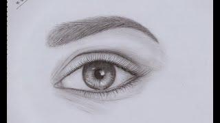 eye easy draw realistic step way