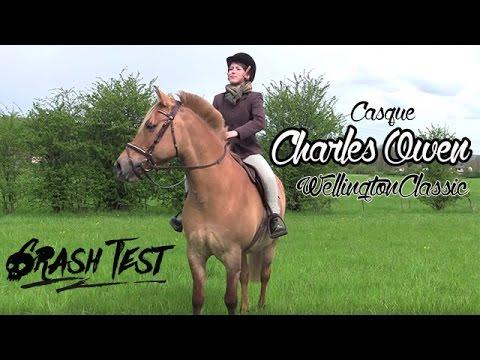 """~ Crash Test — Casque Charles Owen """"Wellington Classic"""" ~"""