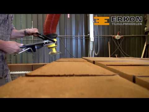 Bakstenen tillen met vacuumheffer - Erkon Tilhulpmiddelen