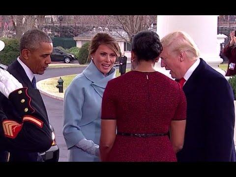 Obamas Welcome Donald Trump, Melania to White House