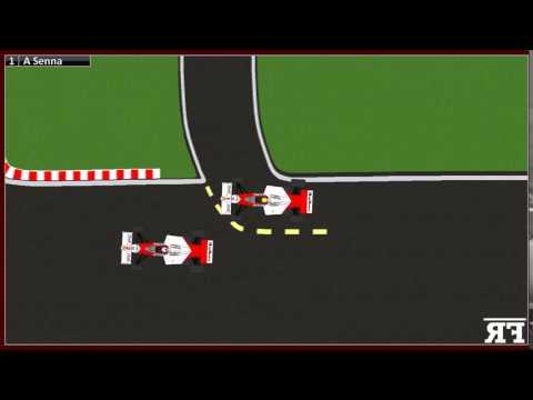 F1 Cartoons - Historic Moments |  F1 1989 Japanese GP - Senna-Prost crash