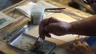 Watercolor Sketch: Pine Trees