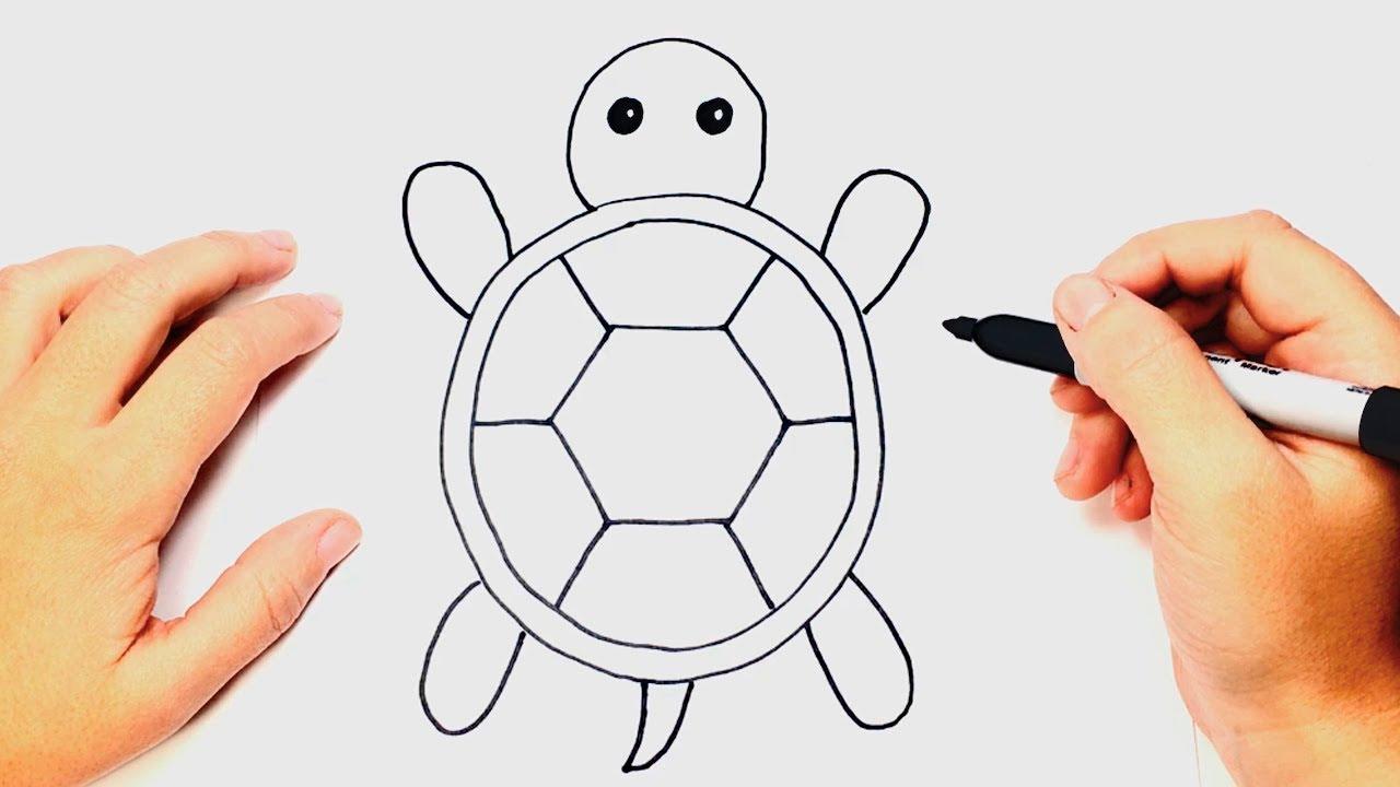 Dibujos De Tortugas Infantiles Para Colorear: Encantador Página Para Colorear De Bebé Tortuga Marina