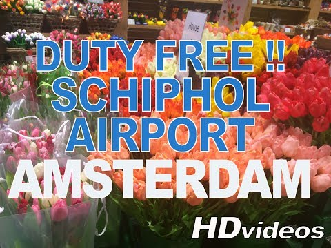 Duty Free Shops - Schiphol Airport Amsterdam - The Netherlands