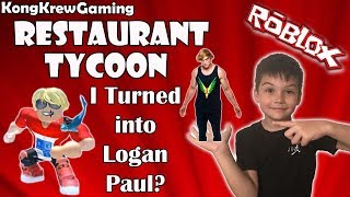 I Turned Into Logan Paul? Roblox Restaurant Tycoon!