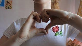 Как сделать вышивку розы на футболке своими руками  Тренды лета 2018