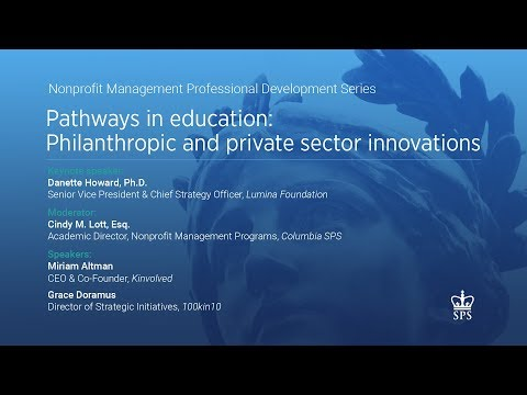 Pathways in Education: Philanthropic and Private Sector Innovations