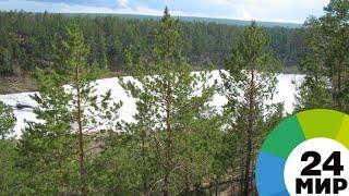 Жара в Якутии: местные жители спасаются от жары на леднике Булуус