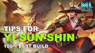 Tips for YI SUN-SHIN 100 Best Build Mobile Legends
