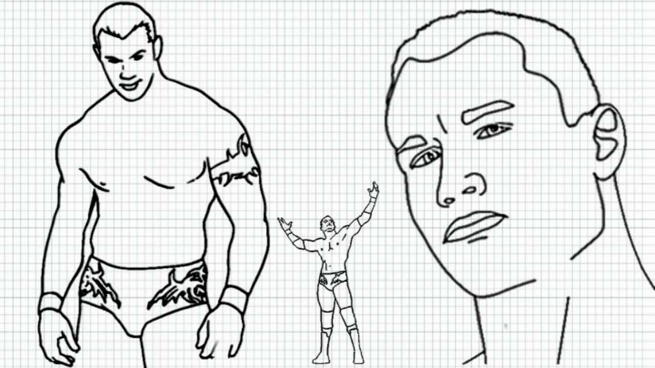 Randy Orton How To Draw Randy Orton Video Randy Orton From Wwe