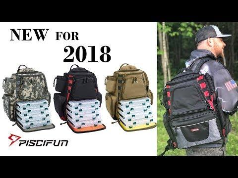 Piscifun NEW Large Capacity Tackle Bag – Ultimate Fishing Bag for Kayak and Bank Fishing