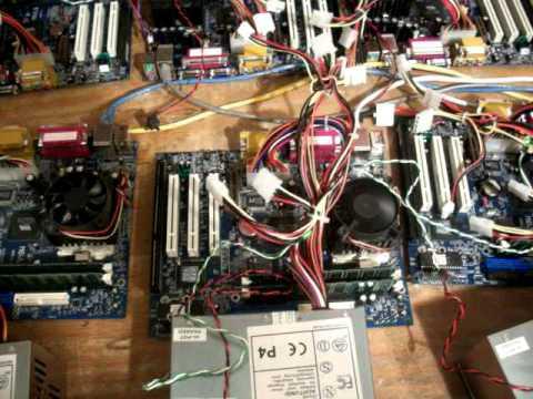 Cluster Computer hardware Test.