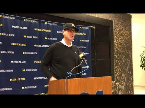 Jim Harbaugh - Early Signing Day 1