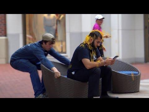 Chair Pulling Confetti Prank!!