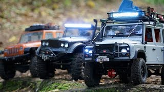 RC Cars Adventures | Kahn Defender 110, Jeep NuKizer 715, Jeep Wrangler Unlimited Rubicon