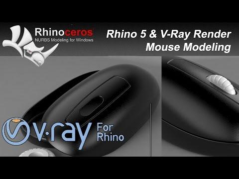 Rhino 5 Eğitim(#2) Mouse Modeling & V-Ray Rhino Render