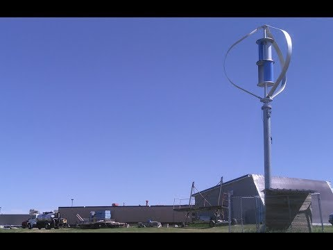 3 kW Wind Turbine at New London/Spicer High School on Green Energy Adventures with the Turbine Guy