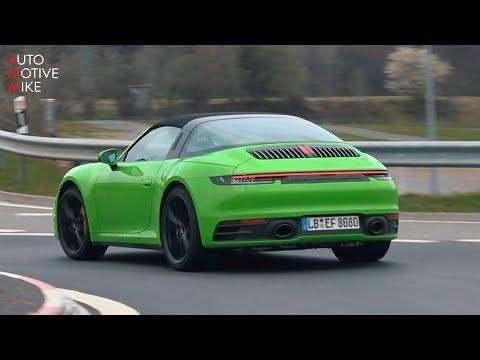 2021 Porsche 911 Targa spy shots and video