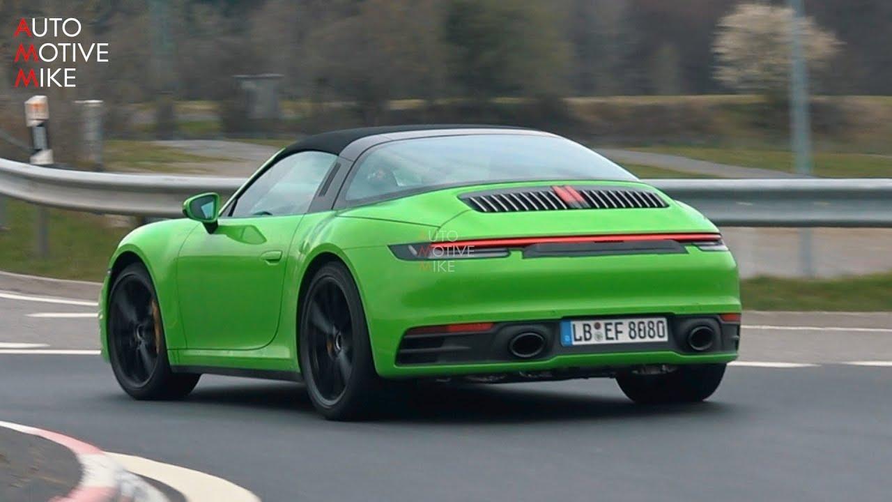 2020 Porsche 911 Targa Nurburgring Spy Video