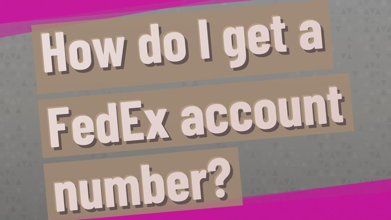 where is my fedex account number