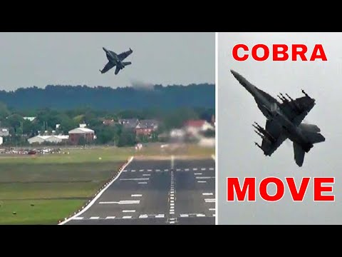 "Wicked F-18 Flying. "" Near Cobra Manoeuvre """