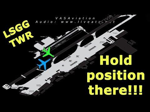 [REAL ATC] VERY CLOSE CALL at Geneva LSGG