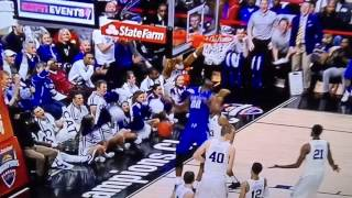 Kentucky Basketball vs Duke - Poythress teeth get stuck in net