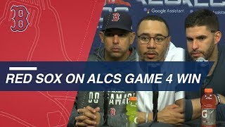 ALCS Gm4: Cora, Betts and Martinez on Game 4 victory