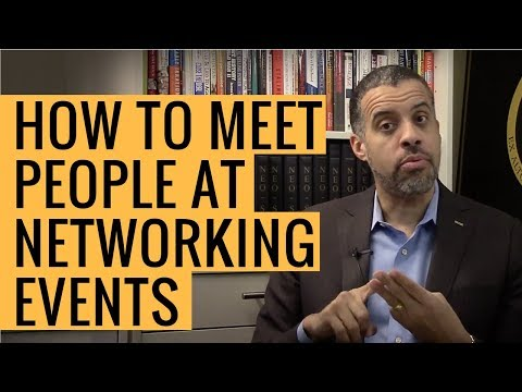 How to Meet Someone at a Networking Event