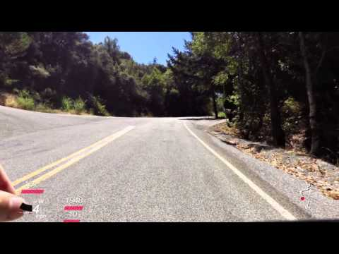 Bohlman Road ascent in Saratoga, CA