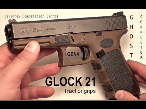 Glock 21 Gen4 - Ghost Connector - Sevigny Sights - Traction Grips