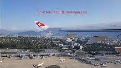 Décollage avion Swiss  Bombardier CS300 aéroport de Genève via Brindisi Italie 4k