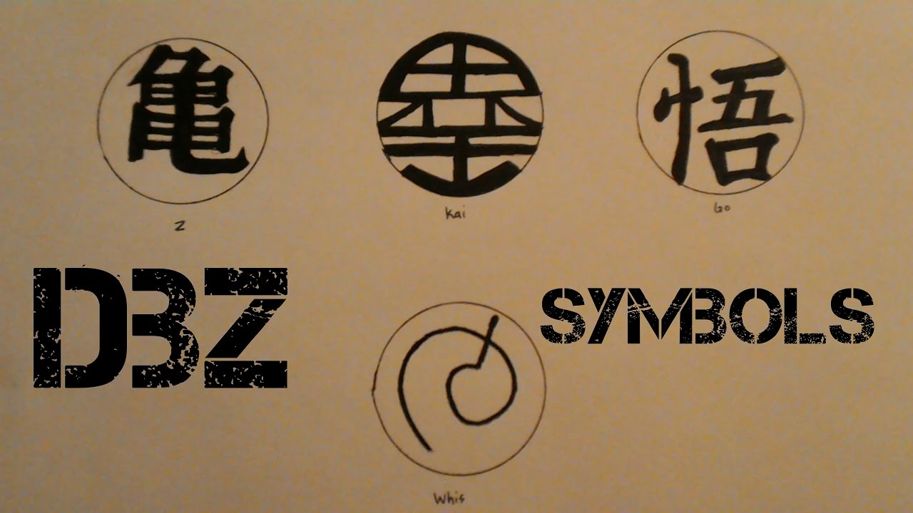 Drawing Dbz Symbols 1 Goku Youtube