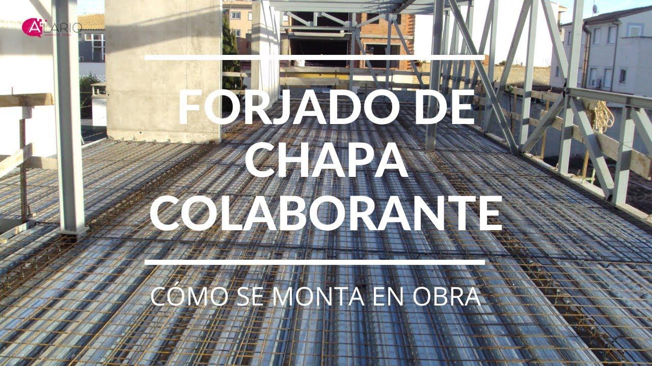 Forjado de chapa colaborante y estructura met lica youtube for Forjado estructura metalica