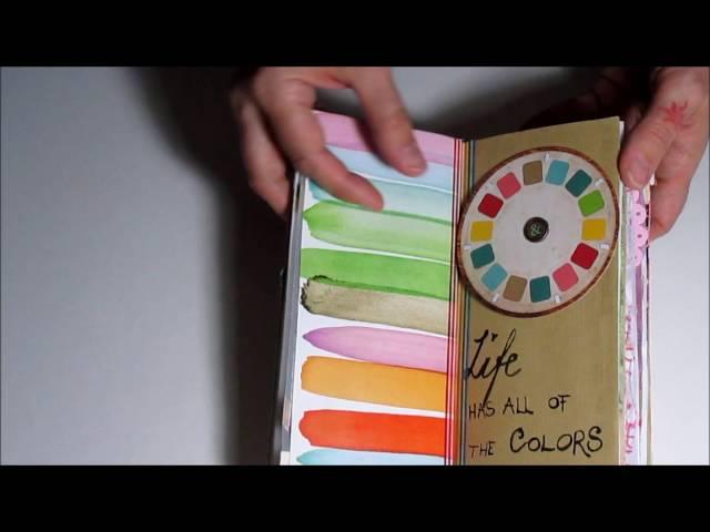 Flip through *handmade* Junk Journal from a chocolate box