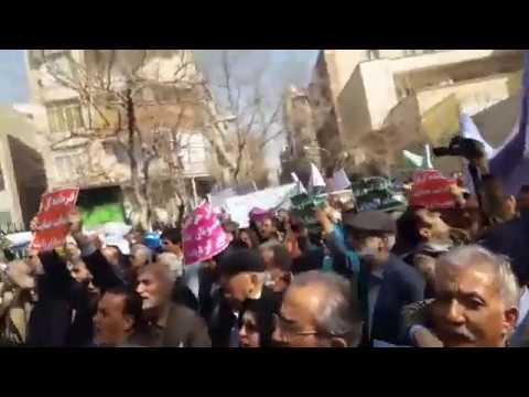 Iran – Protestation de plusieurs milliers de retraités à travers le pays
