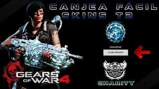 """Gears of War 4 l Canjea Fácil skins Diamante T2 l Kait Acero Negro """" PUERTO  """"  l 1080p Hd"""