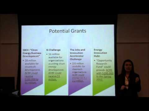 Fall 2011 Capstone: NYC Accelerator for a Clean and Renewable Economy