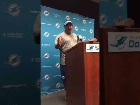 09/11/2016 English Dolphins Live: OC Clyde Christensen meets with the media.