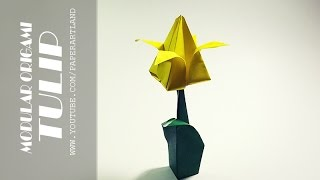How to Make an Origami Tulip - Simple Paper Tulip