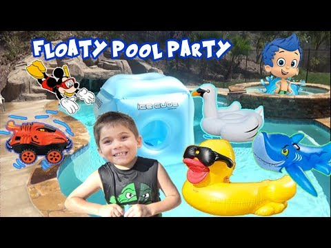 So Many FLOATY'S At Our Party With HobbyKidsTV