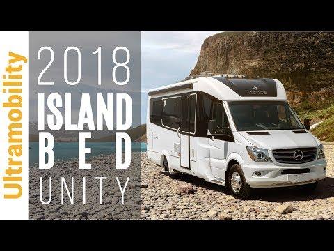 2018 Unity Island Bed Review   Leisure Travel Vans Class B+ Camper Van RV