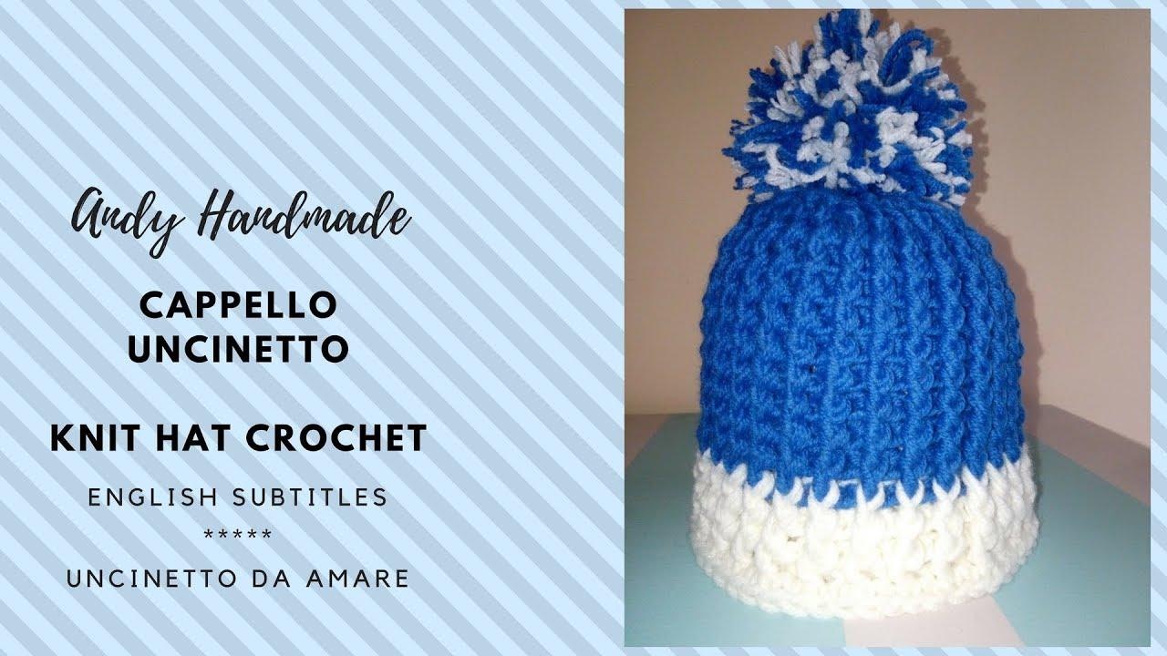 vari stili costo moderato acquista autentico Cappellino bimbo uncinetto - Knit hat crochet -** English Subtitles **