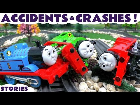 Thomas & Friends Toy Train Accidents and Crashes Play Doh Paw Patrol Superman and Batman Toys
