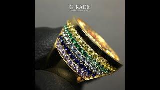 G_RADE Jewelry 지레이드 쥬얼리 [Rainbow G_it Coin Ring]
