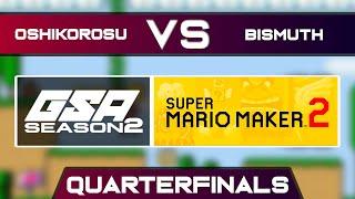 Oshikorosu vs Bismuth   Playoffs Quarterfinals   GSA SMM2 Endless Mode Speedrun League Season 2