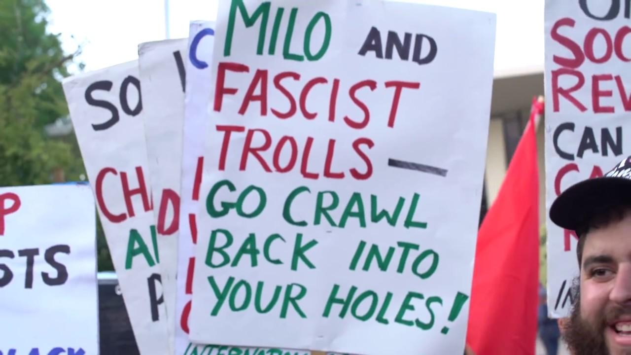 Communists and ANTIFA Protest Milo at CSUF | FLECCAS TALKS