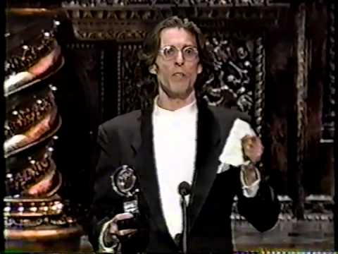 John Glover wins 1995 Tony Award for Best Featured Actor in a Play